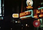 Image of night life in Soho London Soho London England United Kingdom, 1968, second 9 stock footage video 65675070671