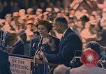 Image of Mrs. Pat Nixon at keel-laying of the NS Savannah Camden New Jersey United States USA, 1958, second 12 stock footage video 65675070685