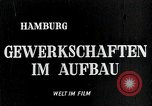 Image of trade unions Hamburg Germany, 1946, second 1 stock footage video 65675070695