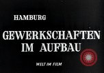 Image of trade unions Hamburg Germany, 1946, second 7 stock footage video 65675070695