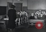Image of elementary school Vienna Austria, 1946, second 10 stock footage video 65675070696