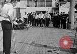 Image of Olympic athletes on SS Manhattan Germany, 1936, second 7 stock footage video 65675070725