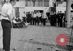 Image of Olympic athletes on SS Manhattan Germany, 1936, second 8 stock footage video 65675070725