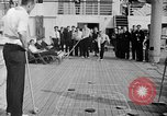 Image of Olympic athletes on SS Manhattan Germany, 1936, second 9 stock footage video 65675070725
