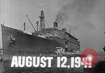 Image of SS Manhattan becomes USS Wakefield New York United States USA, 1941, second 3 stock footage video 65675070728