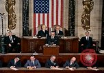 Image of President Lyndon Johnson first address to Congress Washington DC USA, 1963, second 1 stock footage video 65675070779