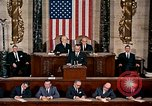 Image of President Lyndon Johnson first address to Congress Washington DC USA, 1963, second 2 stock footage video 65675070779