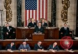Image of President Lyndon Johnson first address to Congress Washington DC USA, 1963, second 3 stock footage video 65675070779