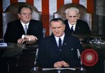 Image of President Johnson speaks on voting rights legislation and racial equal Washington DC USA, 1965, second 3 stock footage video 65675070904