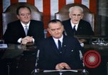 Image of President Johnson speaks on voting rights legislation and racial equal Washington DC USA, 1965, second 6 stock footage video 65675070904
