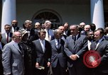 Image of civil rights leaders Washington DC USA, 1963, second 4 stock footage video 65675070908