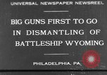 Image of USS Wyoming Philadelphia Pennsylvania USA, 1931, second 1 stock footage video 65675070925