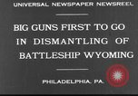 Image of USS Wyoming Philadelphia Pennsylvania USA, 1931, second 2 stock footage video 65675070925