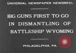 Image of USS Wyoming Philadelphia Pennsylvania USA, 1931, second 8 stock footage video 65675070925
