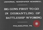 Image of USS Wyoming Philadelphia Pennsylvania USA, 1931, second 9 stock footage video 65675070925