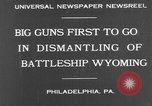 Image of USS Wyoming Philadelphia Pennsylvania USA, 1931, second 10 stock footage video 65675070925