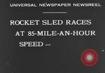 Image of rocket sled Syracuse New York USA, 1931, second 6 stock footage video 65675070926