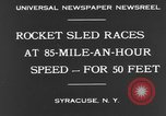 Image of rocket sled Syracuse New York USA, 1931, second 8 stock footage video 65675070926