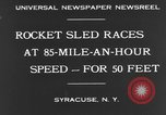 Image of rocket sled Syracuse New York USA, 1931, second 10 stock footage video 65675070926