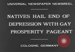 Image of Rose Monday festival Cologne Germany, 1931, second 3 stock footage video 65675070927
