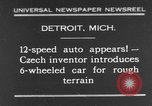 Image of 6-wheeled car Detroit Michigan USA, 1931, second 1 stock footage video 65675070928