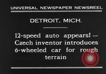 Image of 6-wheeled car Detroit Michigan USA, 1931, second 6 stock footage video 65675070928