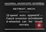 Image of 6-wheeled car Detroit Michigan USA, 1931, second 7 stock footage video 65675070928