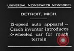 Image of 6-wheeled car Detroit Michigan USA, 1931, second 9 stock footage video 65675070928