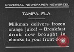 Image of frozen orange juice Tampa Florida USA, 1931, second 1 stock footage video 65675070929