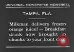 Image of frozen orange juice Tampa Florida USA, 1931, second 5 stock footage video 65675070929