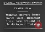Image of frozen orange juice Tampa Florida USA, 1931, second 9 stock footage video 65675070929