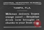 Image of frozen orange juice Tampa Florida USA, 1931, second 10 stock footage video 65675070929