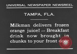 Image of frozen orange juice Tampa Florida USA, 1931, second 12 stock footage video 65675070929