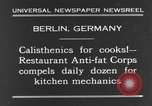 Image of calisthenics for cooks Berlin Germany, 1931, second 2 stock footage video 65675070931
