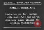 Image of calisthenics for cooks Berlin Germany, 1931, second 11 stock footage video 65675070931