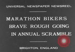 Image of marathon bikers Brighton England, 1931, second 1 stock footage video 65675070933