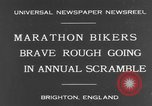 Image of marathon bikers Brighton England, 1931, second 2 stock footage video 65675070933