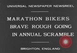 Image of marathon bikers Brighton England, 1931, second 3 stock footage video 65675070933