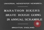 Image of marathon bikers Brighton England, 1931, second 7 stock footage video 65675070933
