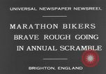 Image of marathon bicycle race Brighton England, 1931, second 8 stock footage video 65675070933