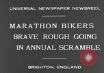 Image of marathon bicycle race Brighton England, 1931, second 9 stock footage video 65675070933
