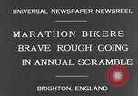 Image of marathon bikers Brighton England, 1931, second 10 stock footage video 65675070933
