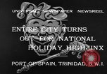 Image of costumed and native dress parade Port of Spain Trinidad, 1932, second 2 stock footage video 65675070935