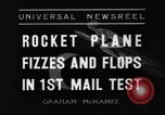 Image of rocket plane mail test Greenwood Lake New York USA, 1936, second 4 stock footage video 65675070941