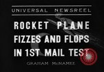 Image of rocket plane mail test Greenwood Lake New York USA, 1936, second 6 stock footage video 65675070941