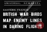 Image of British fliers Eastern France, 1939, second 2 stock footage video 65675070942