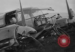 Image of Sightseers  surround downed German Heinkel He-111bomber Scotland United Kingdom, 1939, second 31 stock footage video 65675070948
