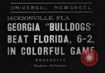 Image of American football match Jacksonville Florida USA, 1939, second 4 stock footage video 65675070955