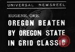 Image of American football match Eugene Oregon USA, 1939, second 1 stock footage video 65675070956