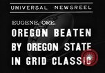 Image of American football match Eugene Oregon USA, 1939, second 5 stock footage video 65675070956